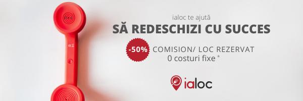 ialoc te susține cu o lună gratuită  și 50% discount până la finalul anului